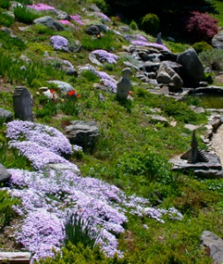 8. Rock garden with sculpture